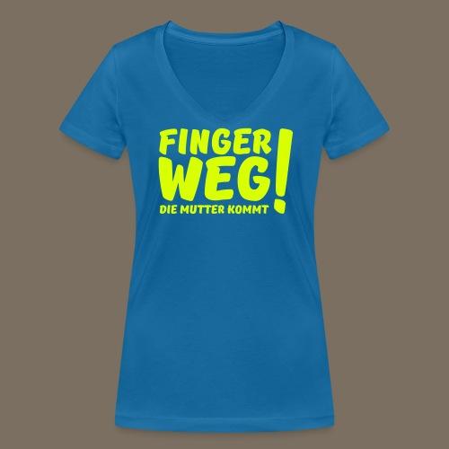 Finger Weg... - Frauen Bio-T-Shirt mit V-Ausschnitt von Stanley & Stella