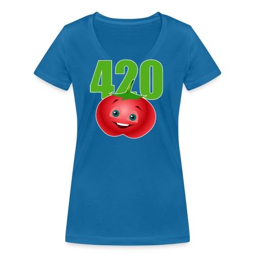 Tomate 420 - Frauen Bio-T-Shirt mit V-Ausschnitt von Stanley & Stella