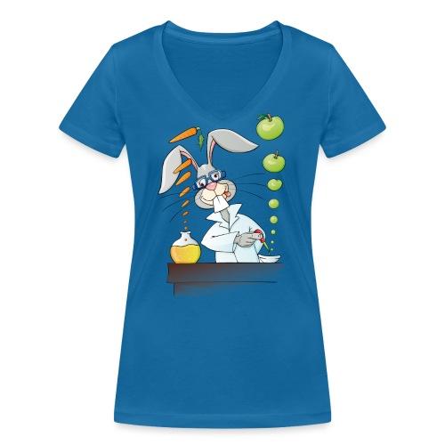 Versuchskaninchen - Frauen Bio-T-Shirt mit V-Ausschnitt von Stanley & Stella