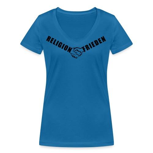 46_Handschlag_01 - Frauen Bio-T-Shirt mit V-Ausschnitt von Stanley & Stella