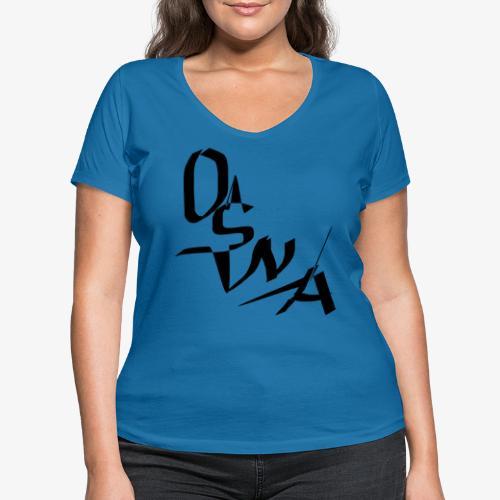OSNA COMPANY - Ekologiczna koszulka damska z dekoltem w serek Stanley & Stella