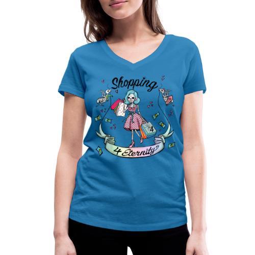 Shopping für immer und ewig - Frauen Bio-T-Shirt mit V-Ausschnitt von Stanley & Stella