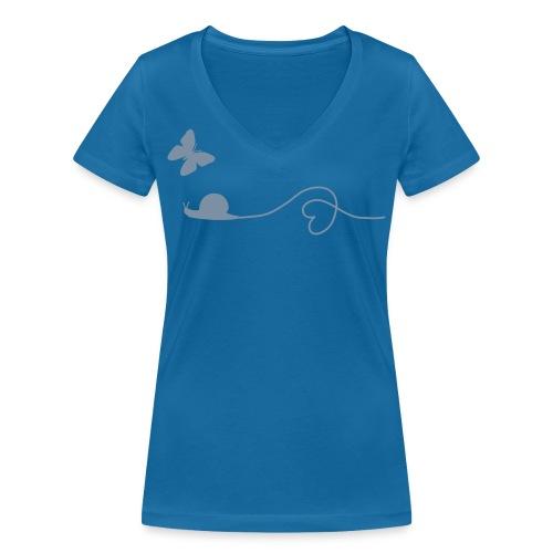 Fair, Öko & Bio-Kinder-Shirt / T-Shirt Schnecke - Frauen Bio-T-Shirt mit V-Ausschnitt von Stanley & Stella