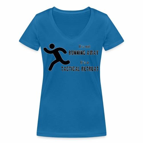 Tactical Retreat - Women's Organic V-Neck T-Shirt by Stanley & Stella