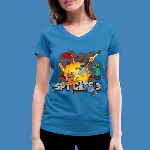 Spy Cats 3 - Vrouwen bio T-shirt met V-hals van Stanley & Stella
