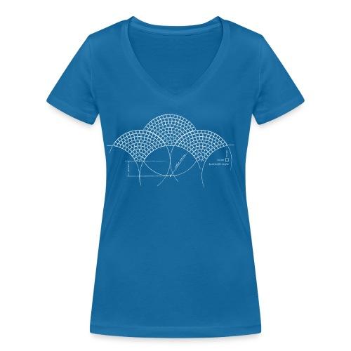 European Fan White - Vrouwen bio T-shirt met V-hals van Stanley & Stella
