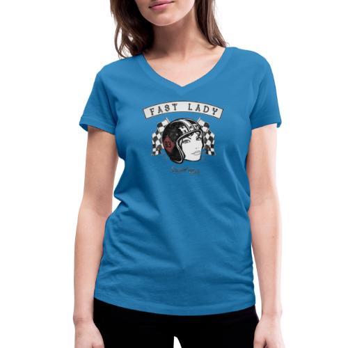 Fast Lady - Support Gear - Frauen Bio-T-Shirt mit V-Ausschnitt von Stanley & Stella