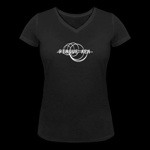 Pinque AEM Bianco - T-shirt ecologica da donna con scollo a V di Stanley & Stella