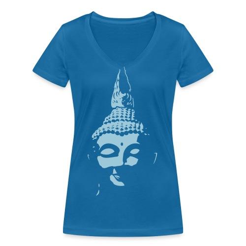 Boeddha hoofd diapositief - Vrouwen bio T-shirt met V-hals van Stanley & Stella