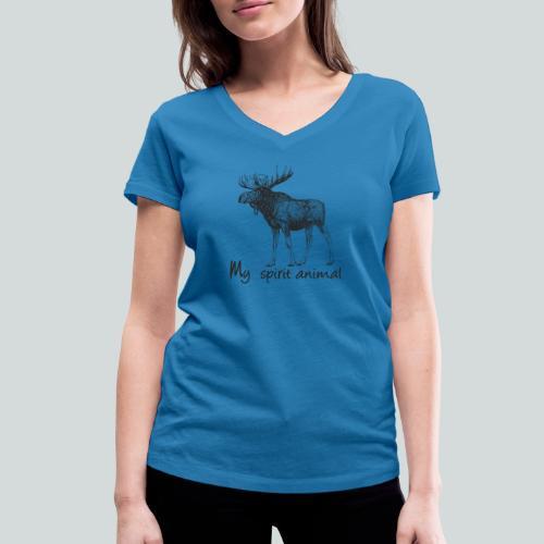 L'élan est mon animal totem - T-shirt bio col V Stanley & Stella Femme