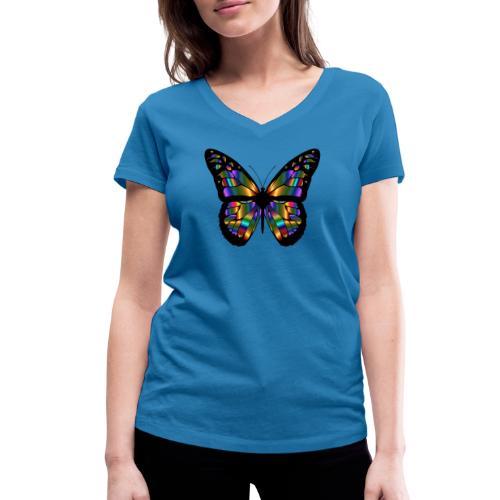papillon design - T-shirt bio col V Stanley & Stella Femme