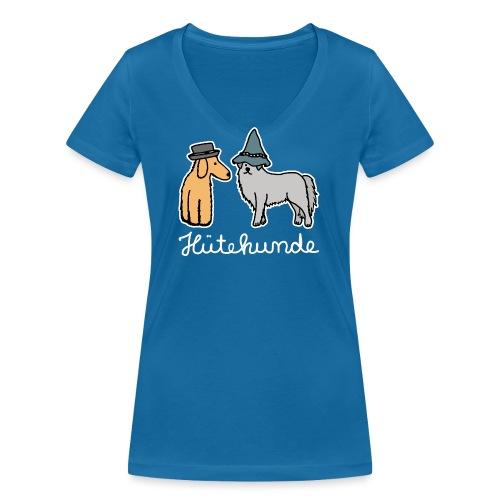 Hütehunde Hunde mit Hut Huetehund - Frauen Bio-T-Shirt mit V-Ausschnitt von Stanley & Stella