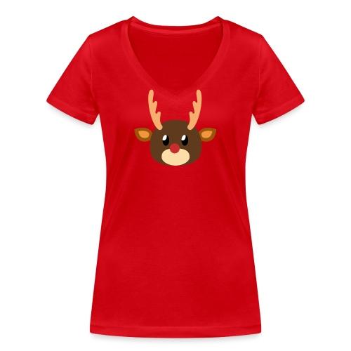 Rentier »Rudy« - Women's Organic V-Neck T-Shirt by Stanley & Stella