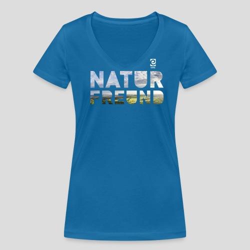 Naturfreund - weiß - Frauen Bio-T-Shirt mit V-Ausschnitt von Stanley & Stella