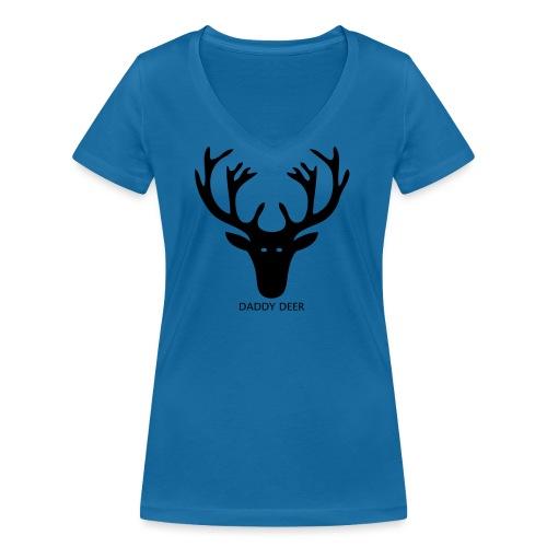 DADDY DEER - Women's Organic V-Neck T-Shirt by Stanley & Stella