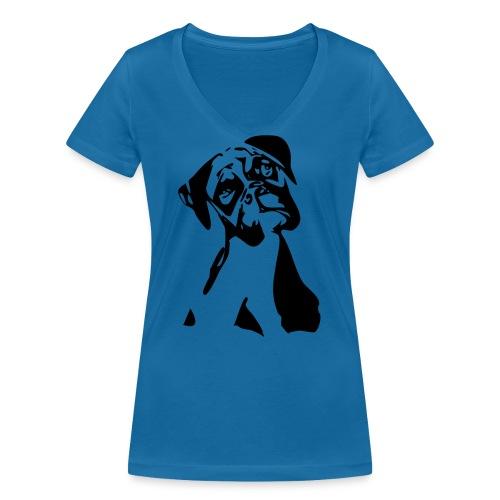 Boxer - Frauen Bio-T-Shirt mit V-Ausschnitt von Stanley & Stella