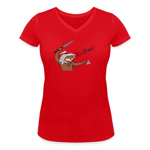 Noiduri - Stanley & Stellan naisten v-aukkoinen luomu-T-paita