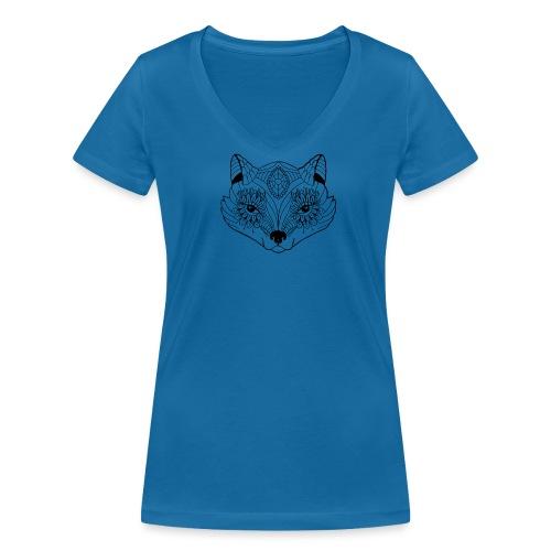 mandalafox - Stanley & Stellan naisten v-aukkoinen luomu-T-paita