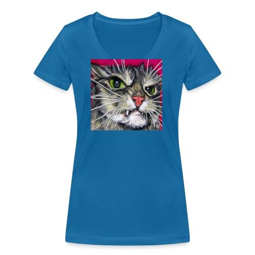 Bit Suspicious - Vrouwen bio T-shirt met V-hals van Stanley & Stella
