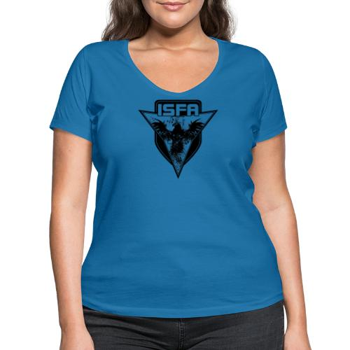 isfa logo 1c schwarz - Frauen Bio-T-Shirt mit V-Ausschnitt von Stanley & Stella