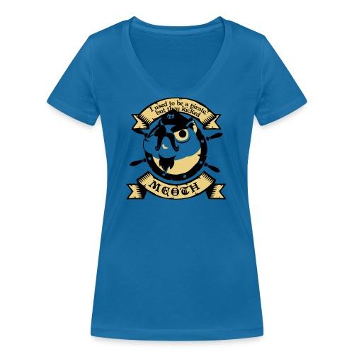 Katze Pirat Spruch - Frauen Bio-T-Shirt mit V-Ausschnitt von Stanley & Stella