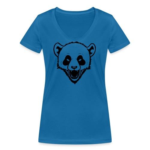 Panda - Frauen Bio-T-Shirt mit V-Ausschnitt von Stanley & Stella