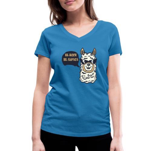 be Rock be Alpaka - T-shirt ecologica da donna con scollo a V di Stanley & Stella
