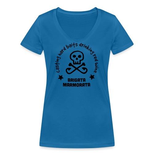 Brigata Marmorata - T-shirt ecologica da donna con scollo a V di Stanley & Stella