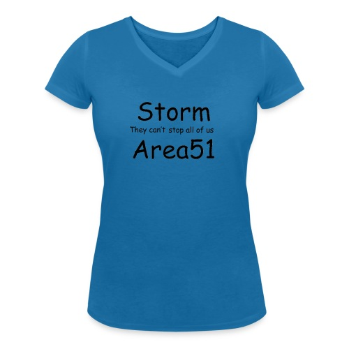 Storm Area 51 - Women's Organic V-Neck T-Shirt by Stanley & Stella