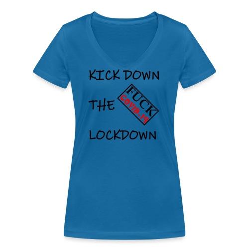 Fight COVID-19 #21 - Frauen Bio-T-Shirt mit V-Ausschnitt von Stanley & Stella