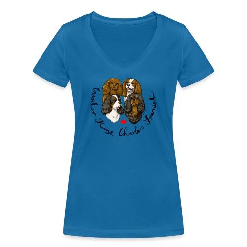 4 Cavies II - Frauen Bio-T-Shirt mit V-Ausschnitt von Stanley & Stella