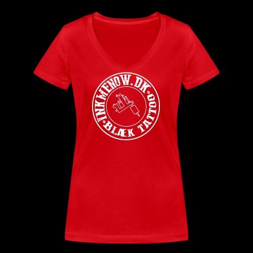 logo hvid png - Økologisk Stanley & Stella T-shirt med V-udskæring til damer