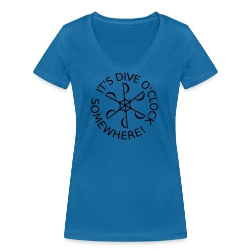 Dive o clock Black - Women's Organic V-Neck T-Shirt by Stanley & Stella