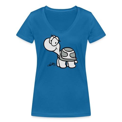 Schildkroete Schnitt - Frauen Bio-T-Shirt mit V-Ausschnitt von Stanley & Stella