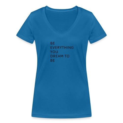 Dreamer - Stanley & Stellan naisten v-aukkoinen luomu-T-paita