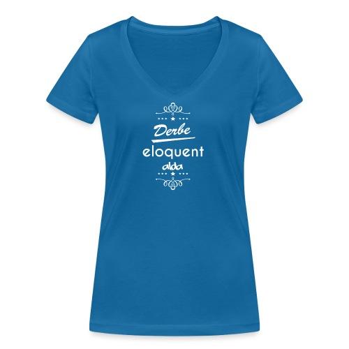 Derbe Eloquent Alda Weiß - Women's Organic V-Neck T-Shirt by Stanley & Stella
