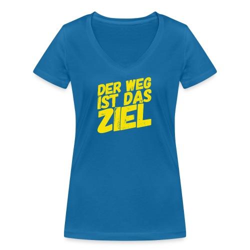 Der Weg ist das Ziel - Frauen Bio-T-Shirt mit V-Ausschnitt von Stanley & Stella