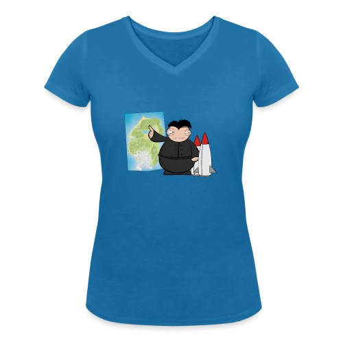 Happy Dictator. - Camiseta ecológica mujer con cuello de pico de Stanley & Stella