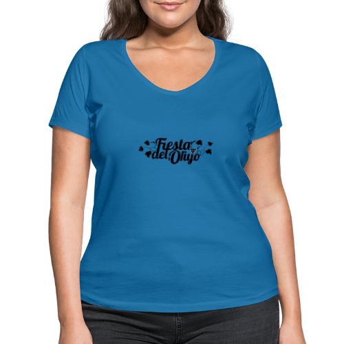 Fiesta del Orujo - Camiseta ecológica mujer con cuello de pico de Stanley & Stella