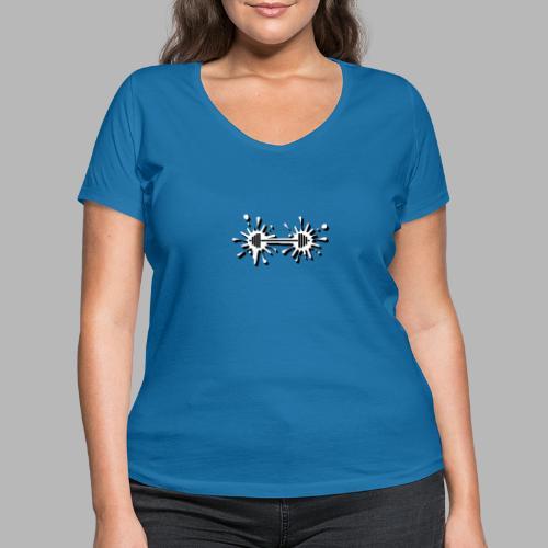 Hantel Splash - Frauen Bio-T-Shirt mit V-Ausschnitt von Stanley & Stella