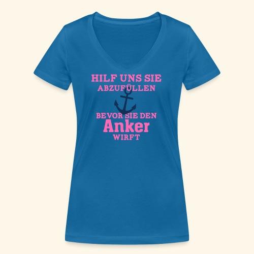 JGA Shirts | Braut | Team Braut | Anker - Frauen Bio-T-Shirt mit V-Ausschnitt von Stanley & Stella