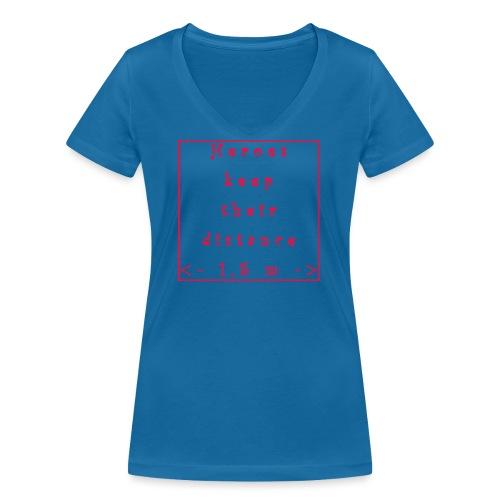 Fight COVID-19 #7 - Frauen Bio-T-Shirt mit V-Ausschnitt von Stanley & Stella