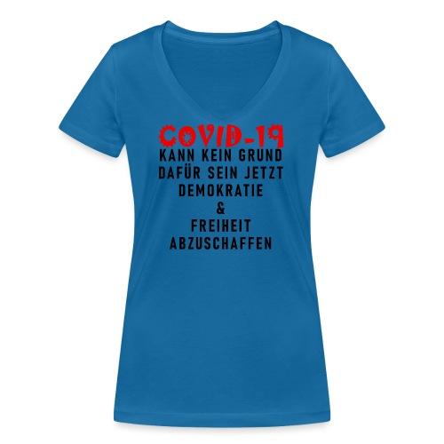 Fight COVID-19 #13 - Frauen Bio-T-Shirt mit V-Ausschnitt von Stanley & Stella
