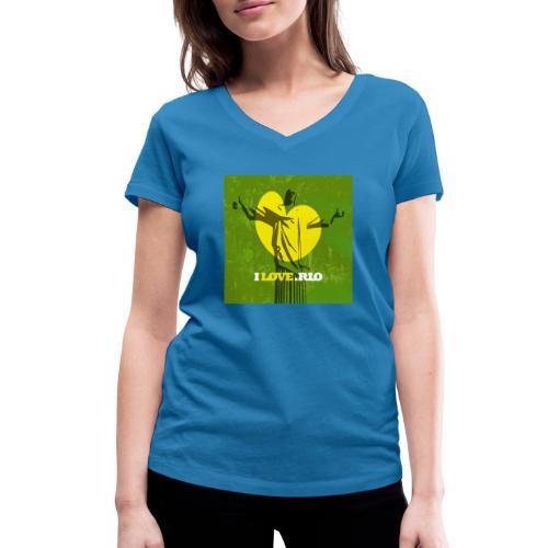 ILOVE.RIO MATA ATLANTICA - Women's Organic V-Neck T-Shirt by Stanley & Stella