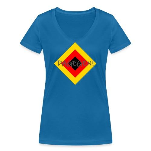 Anti-Raute - Frauen Bio-T-Shirt mit V-Ausschnitt von Stanley & Stella