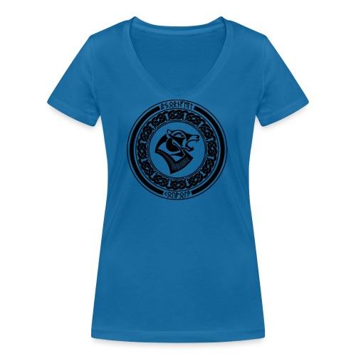 BjornfellRisingBlack - Stanley & Stellan naisten v-aukkoinen luomu-T-paita