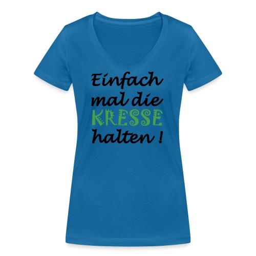 Einfach mal die Kresse halten! - Frauen Bio-T-Shirt mit V-Ausschnitt von Stanley & Stella