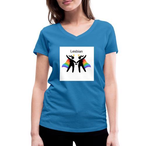 LGBT Lesbian - Økologisk Stanley & Stella T-shirt med V-udskæring til damer