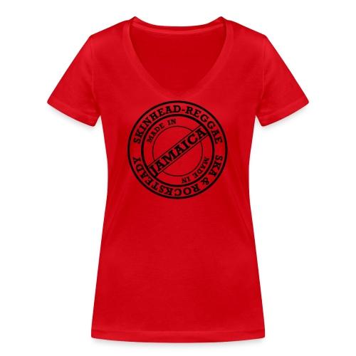 skinheadreggae_made_in_jamaica - Frauen Bio-T-Shirt mit V-Ausschnitt von Stanley & Stella