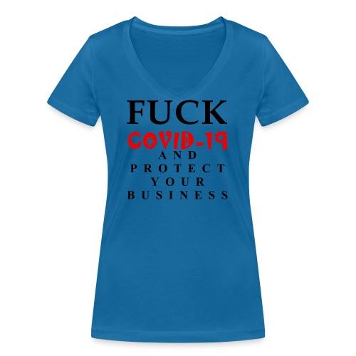 Fight COVID-19 #17 - Frauen Bio-T-Shirt mit V-Ausschnitt von Stanley & Stella